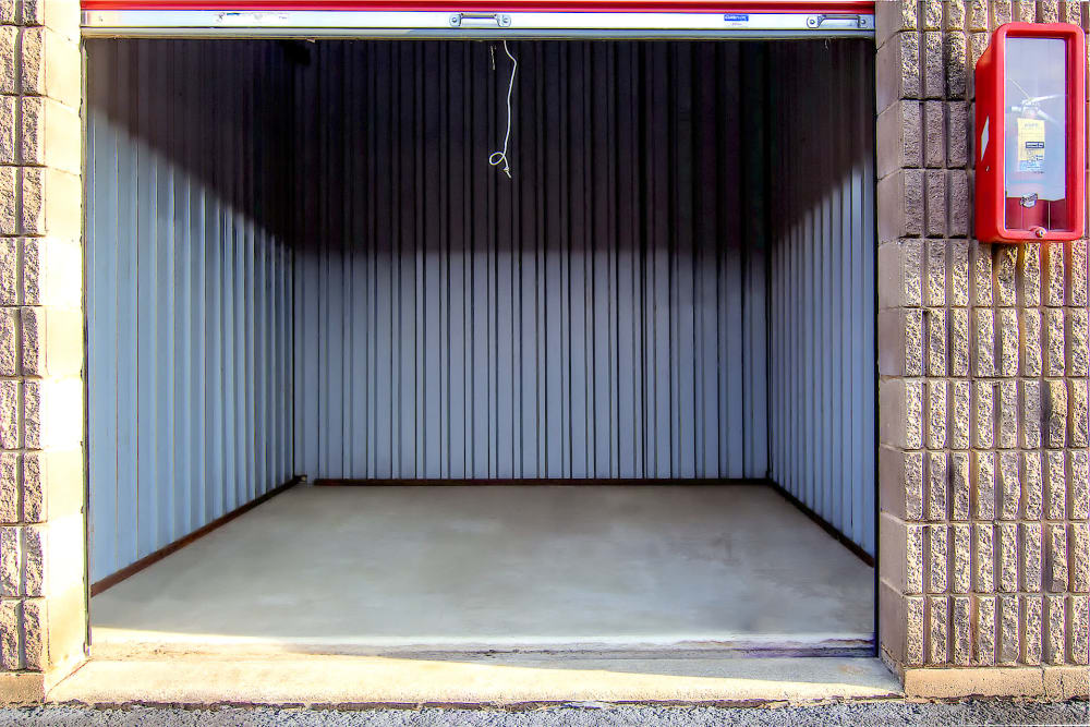 Outdoor storage unit with roll up door at Prime Storage in Lindenwold, New Jersey
