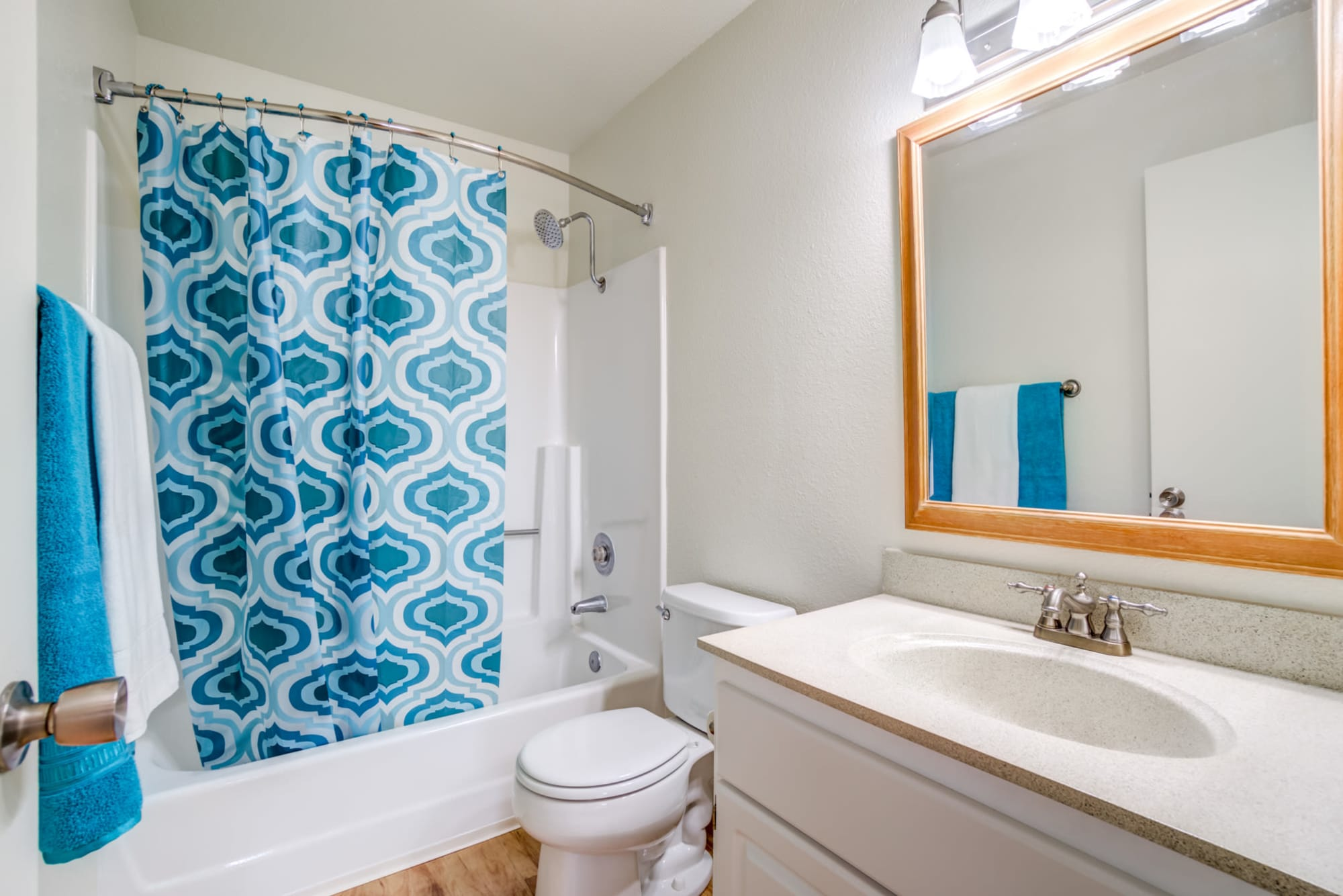 Bathroom  with tub at Sommerset Apartments in Vacaville, CA