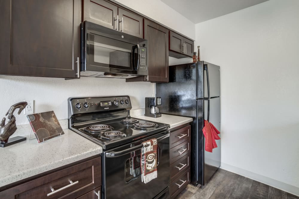 Kitchen with ample counter space at Parkside Commons Apartments
