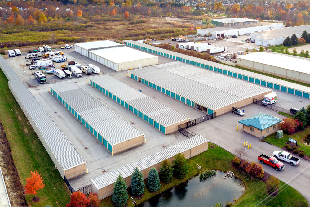 Aerial view of Prime Storage in Broadview Heights, Ohio