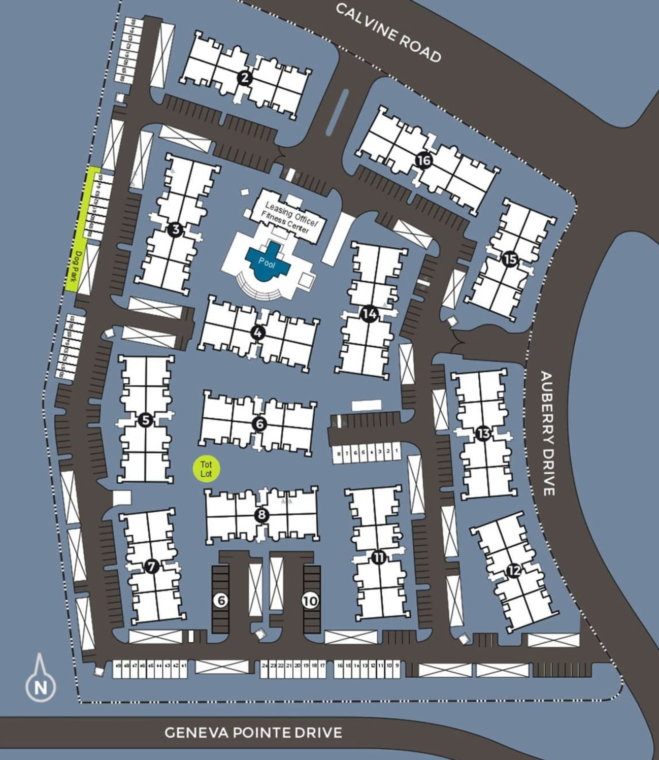 Community site map for The Artisan Apartment Homes in Sacramento, California
