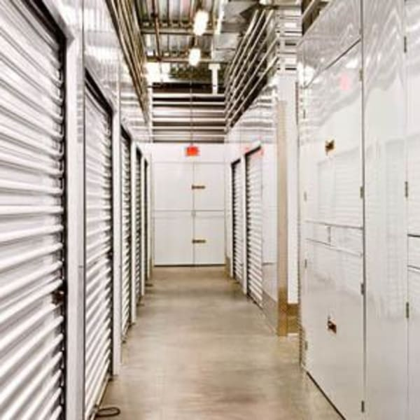 Indoor storage units at StorQuest Self Storage in Thousand Oaks, California