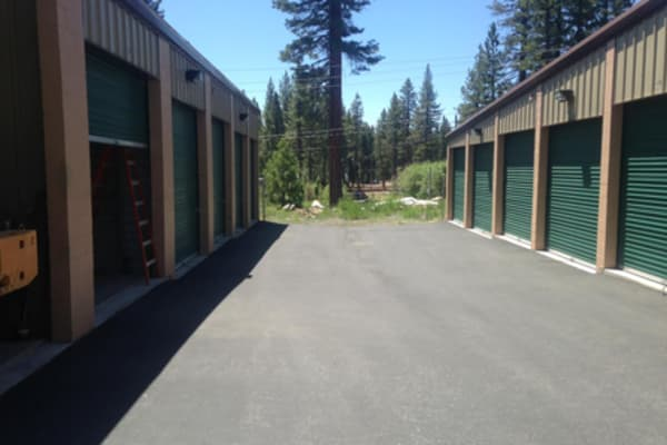 Drive-up units at Tahoe Vista self storage
