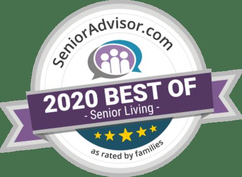 Senior Advisor Award 2020 for Heritage Hill Senior Community