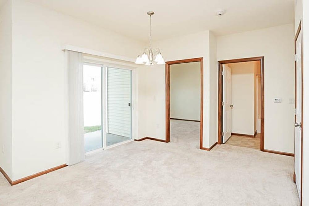 Master bedroom at Johnston Heights in Johnston, Iowa
