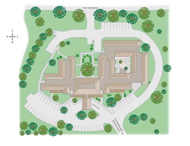 Oakleaf Village at Greenville site map