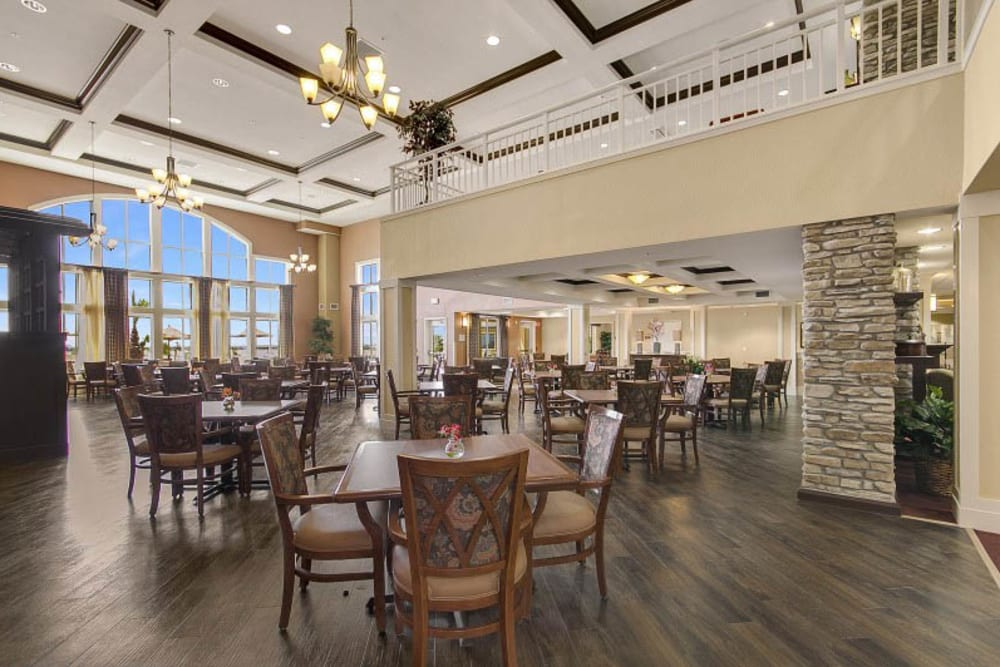 Dining at The Pines, A Merrill Gardens Community in Rocklin, California.