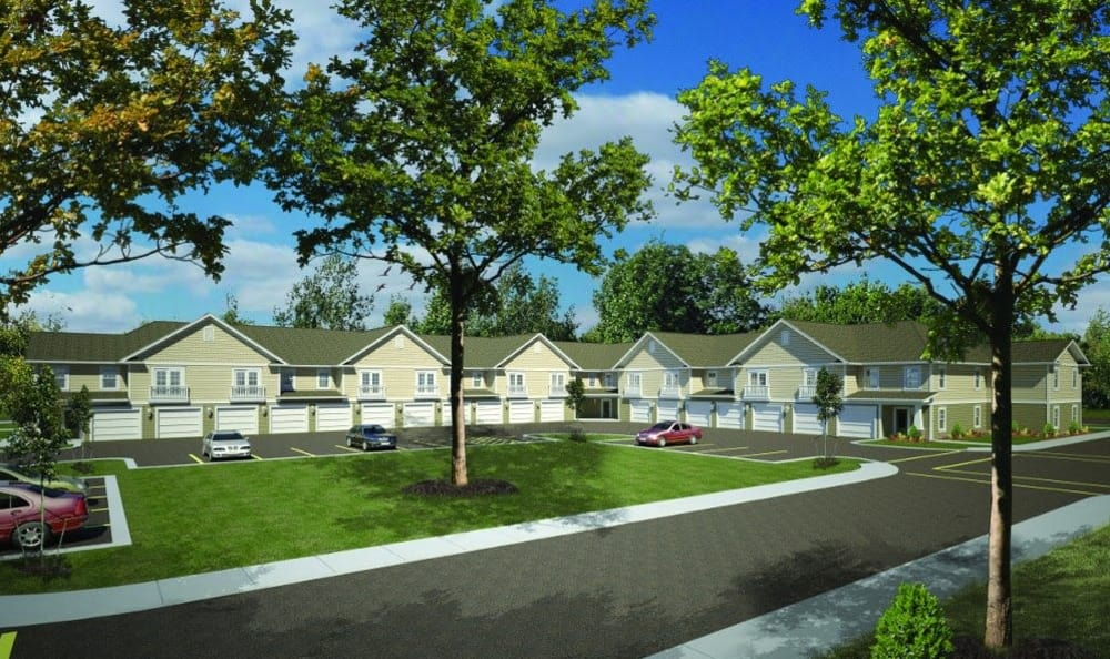Big gardens and quiet spaces at Orchard View Senior Apartments in Rochester