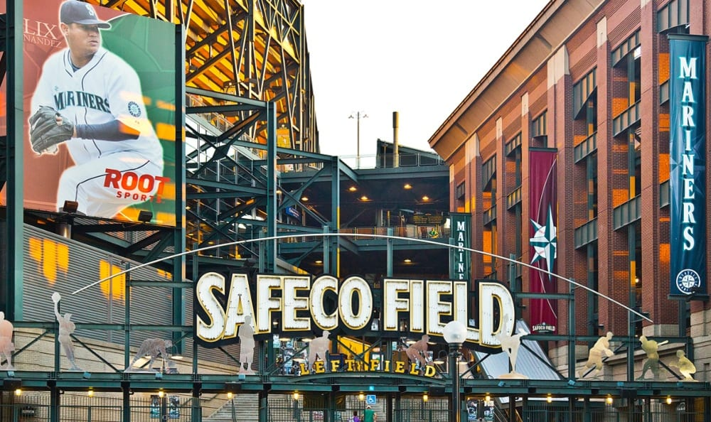 Safeco field in Seattle, Washington near The Wave at Stadium Place