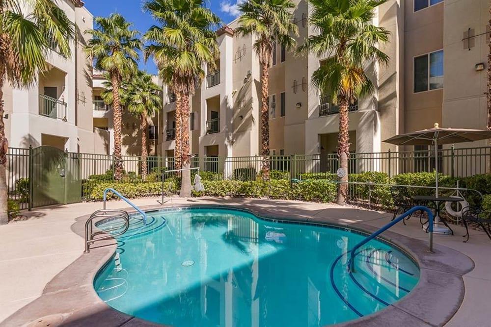Take a dip at the pool at Merrill Gardens at Green Valley Ranch in Henderson, Nevada.