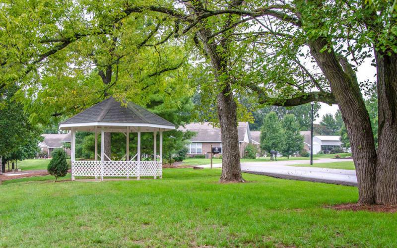 Gazebo in the backyard at Ashbrook in Farmington, Missouri