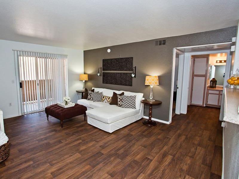Handsome hardwood flooring at Monterra Apartment Homes