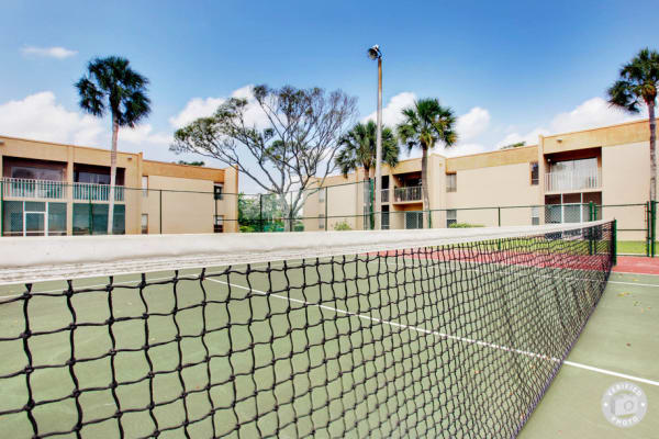 Great community amenities like a tennis court are offered at Lime Tree Village