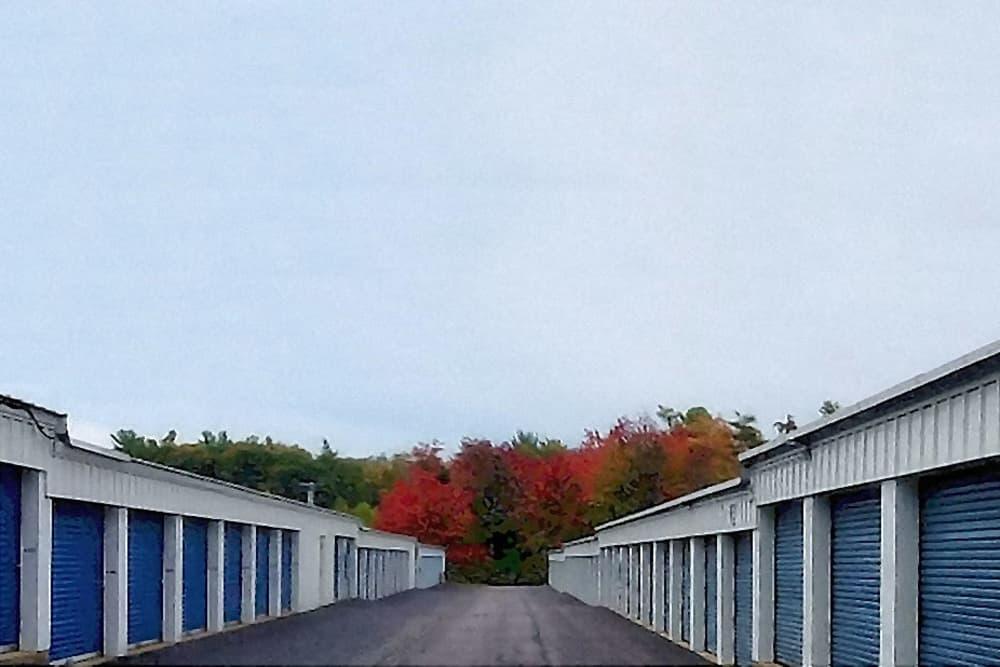Storage units at Prime Storage in Wells, Maine