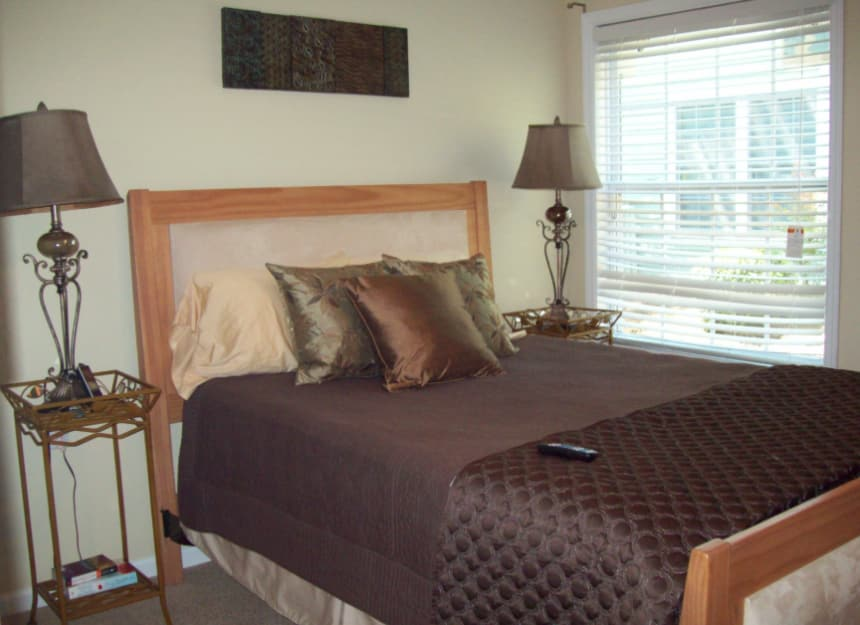 Lovely bedroom in senior apartment at Sandpiper Village in Mt. Pleasant