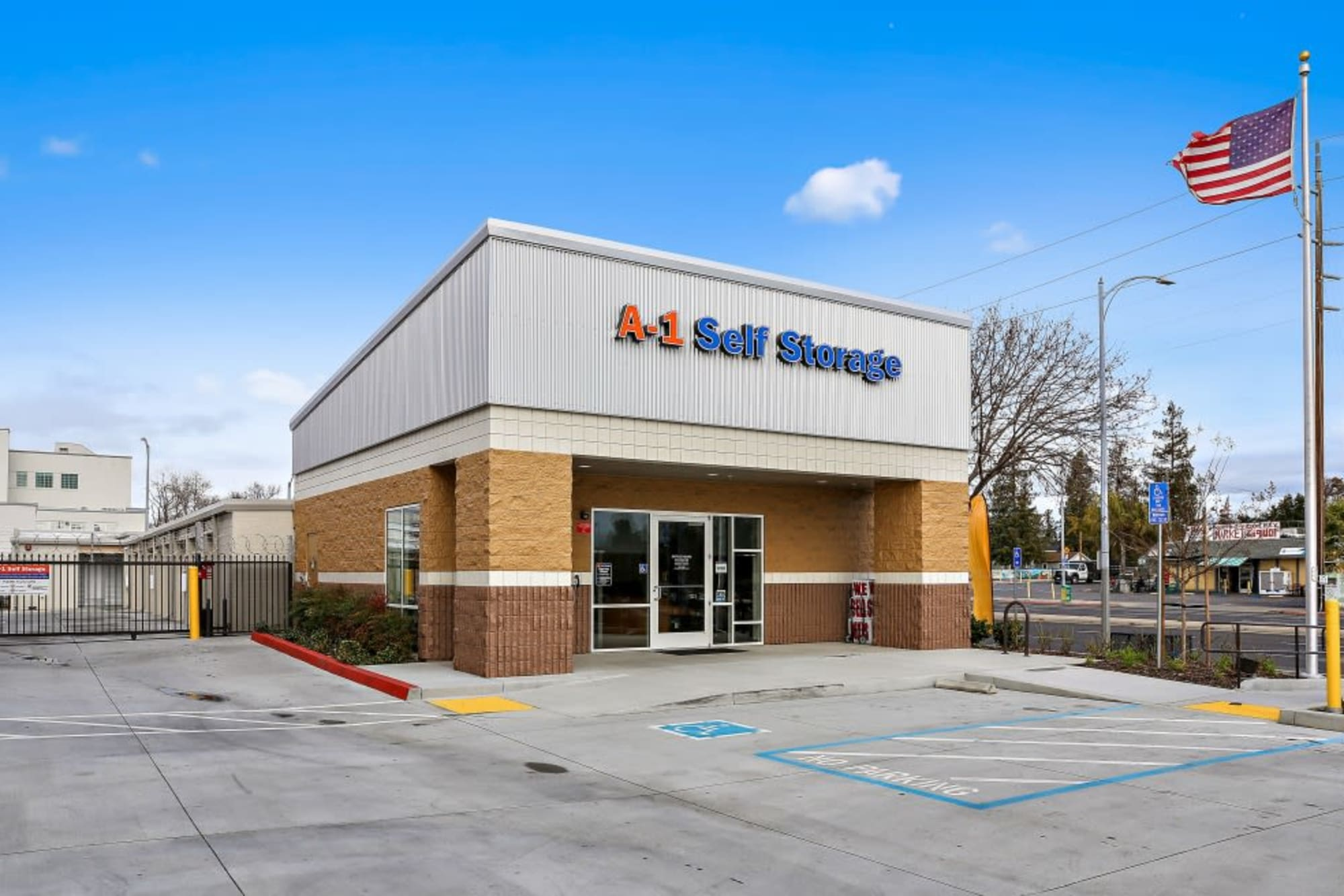 The front office at A-1 Self Storage
