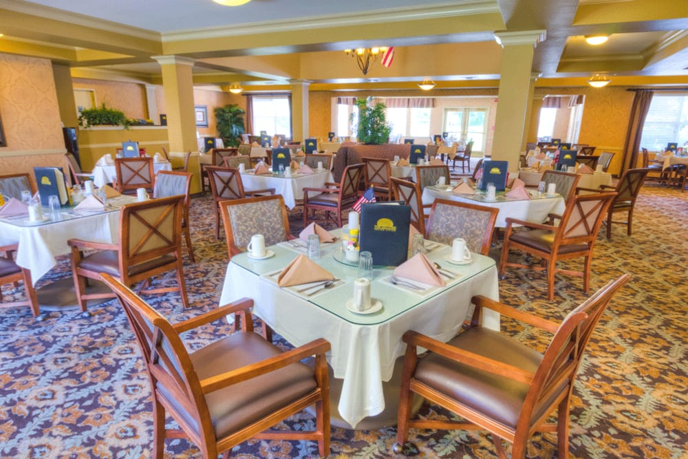 Delightful dining room at The Meadows - Assisted Living in Elk Grove, California