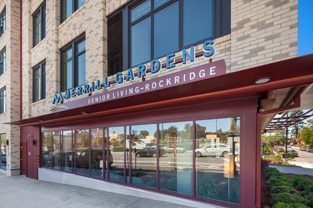 Entrance to Merrill Gardens at Rockridge in Oakland, California.