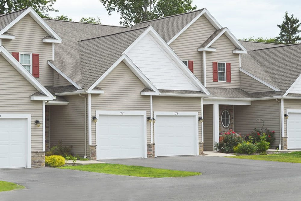 Our townhome style homes in Webster, NY feature attached garages