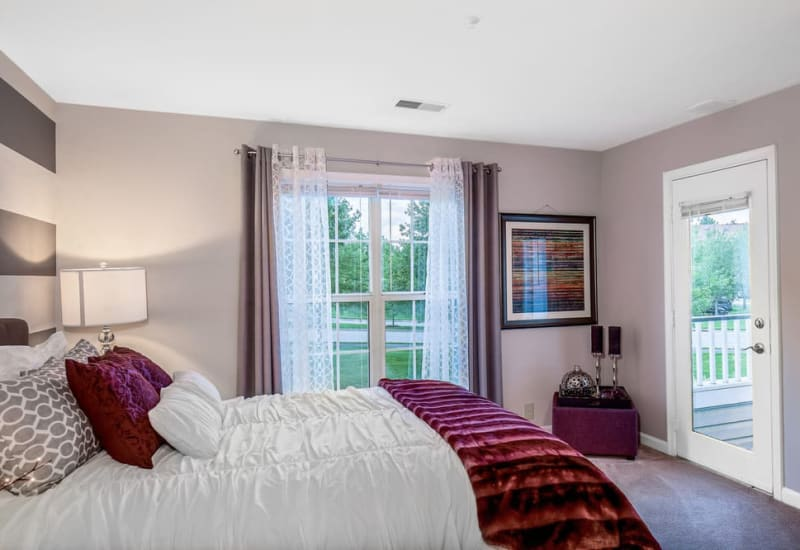 Master bedroom at Sussex at Kingstowne in Alexandria, Virginia