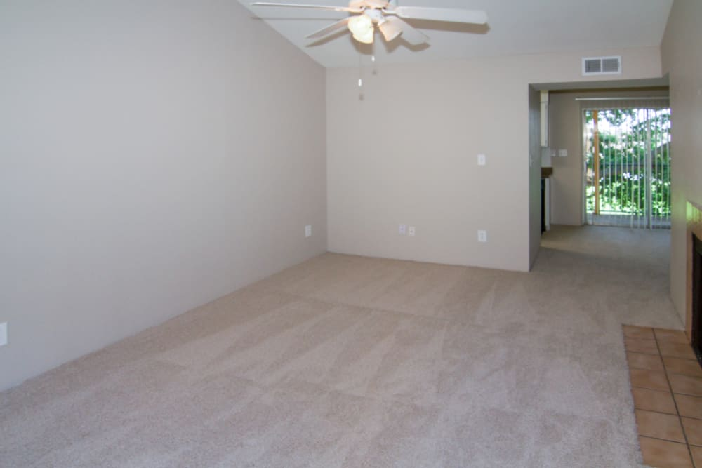 Cozy living room at Meadow Park Apartments in Alvin, Texas