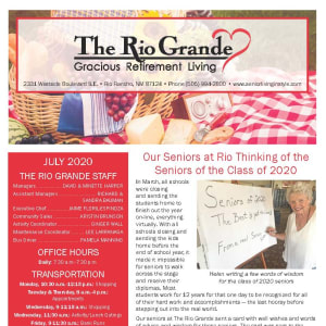 July The Rio Grande Gracious Retirement Living Newsletter