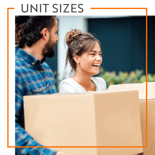 View our unit sizes for Storage Units in Augusta, Georgia