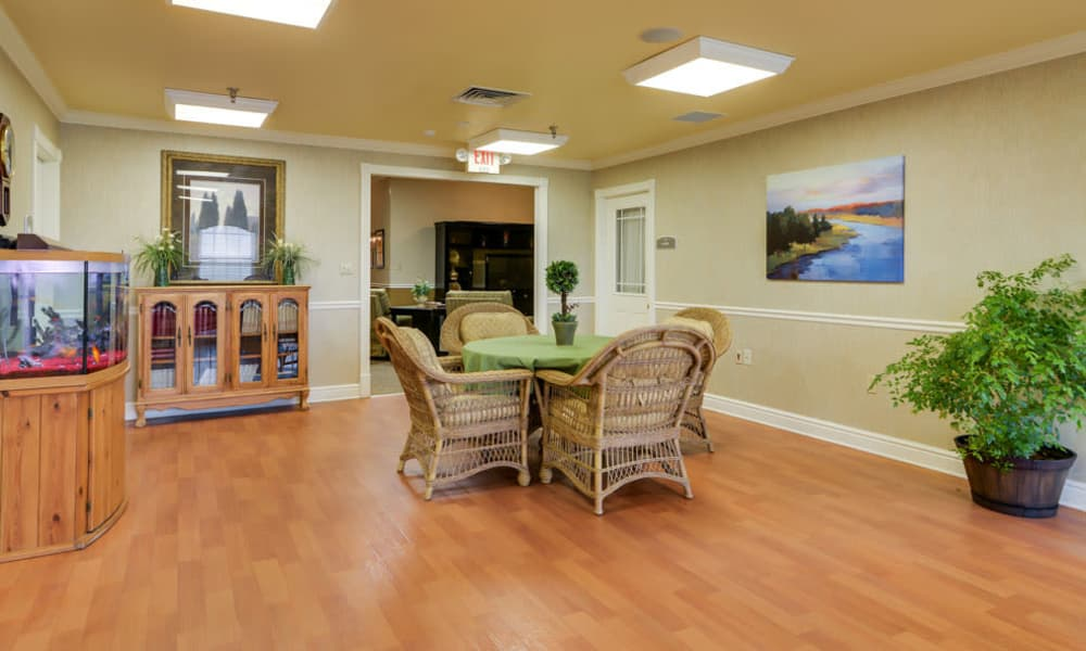 Common room at The Arbors at WestRidge Place in Sikeston, Missouri