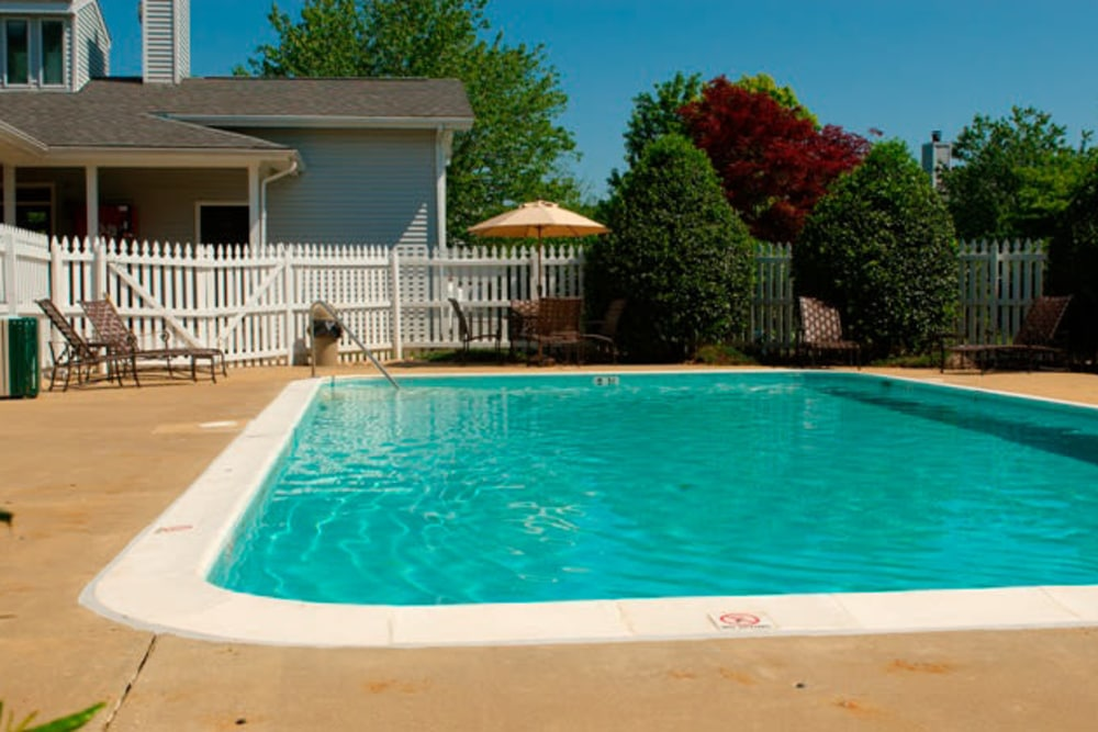 Unique swimming pool at apartments in Easton, Maryland