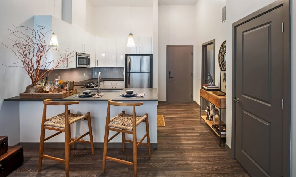 Our apartments in Pittsburgh, PA showcase a modern kitchen