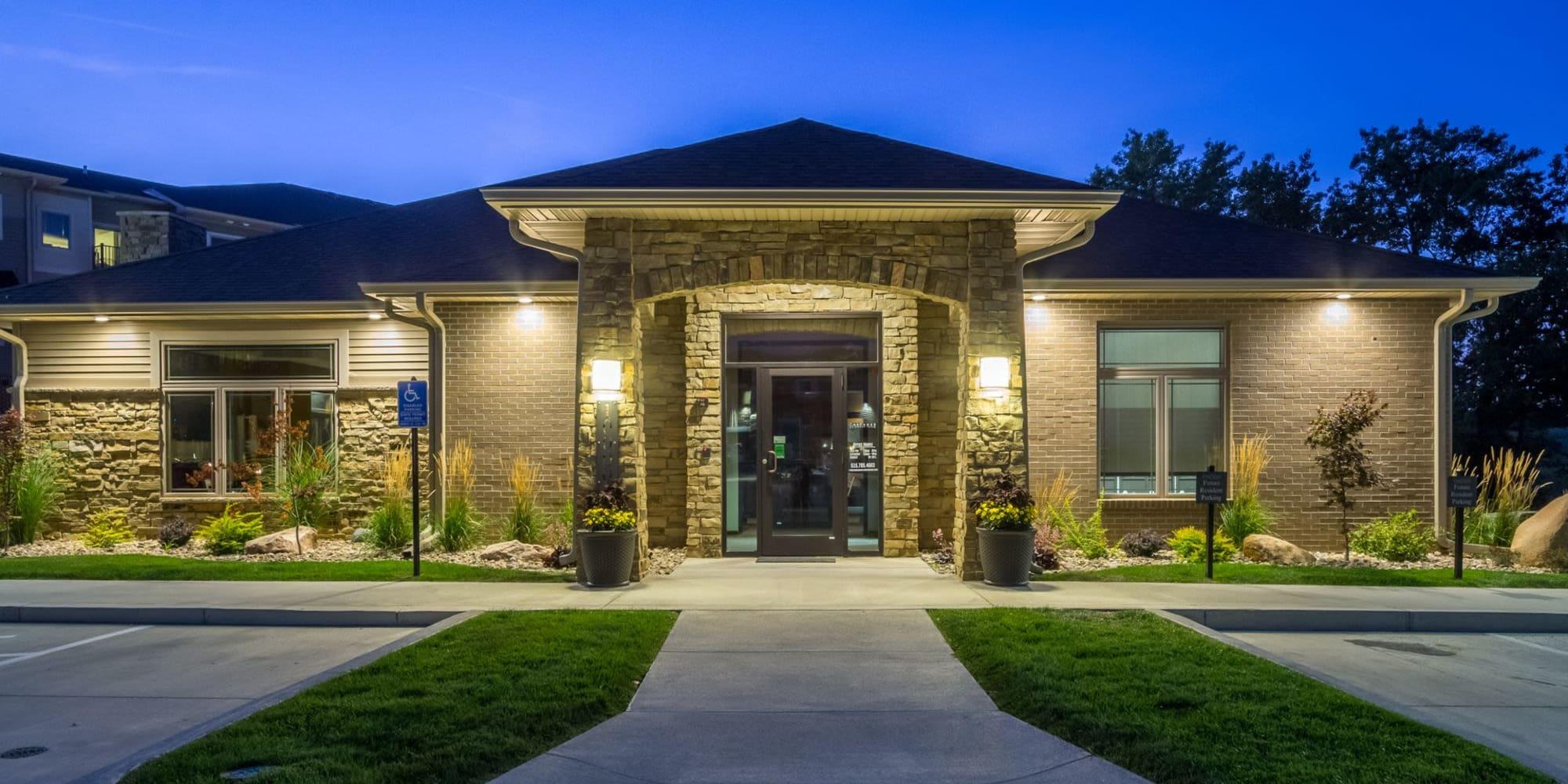 The Cascades at Jordan Creek apartments in West Des Moines, Iowa