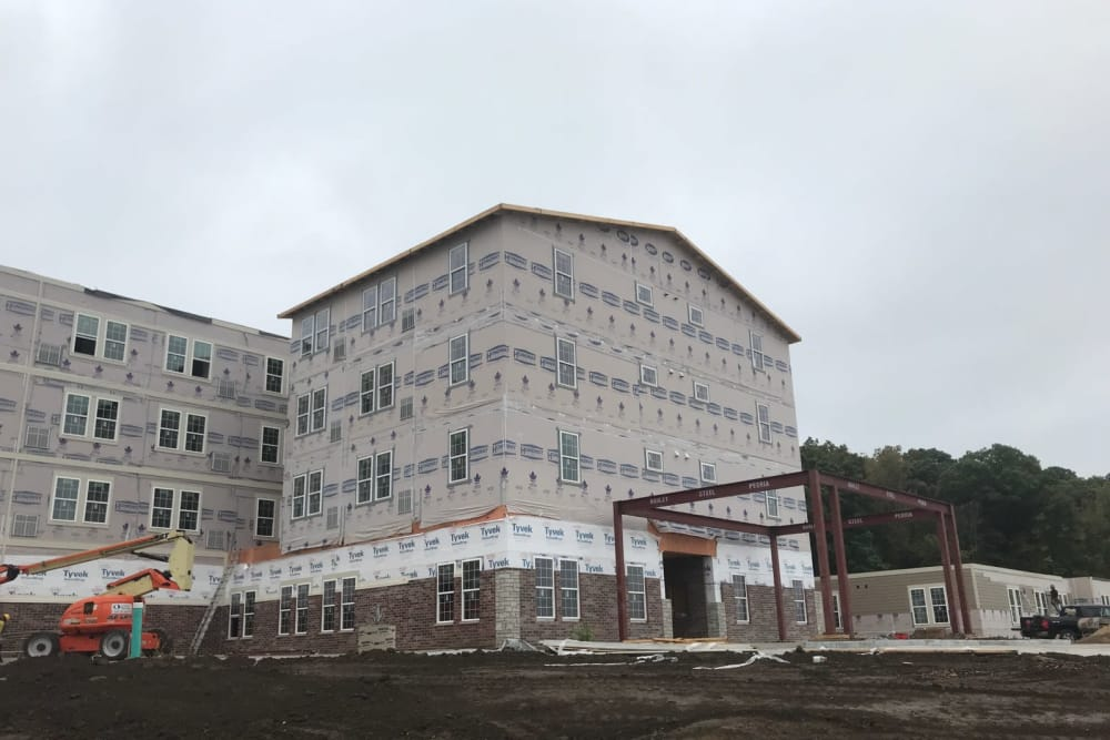 The construction of Serenity, A Randall Residence