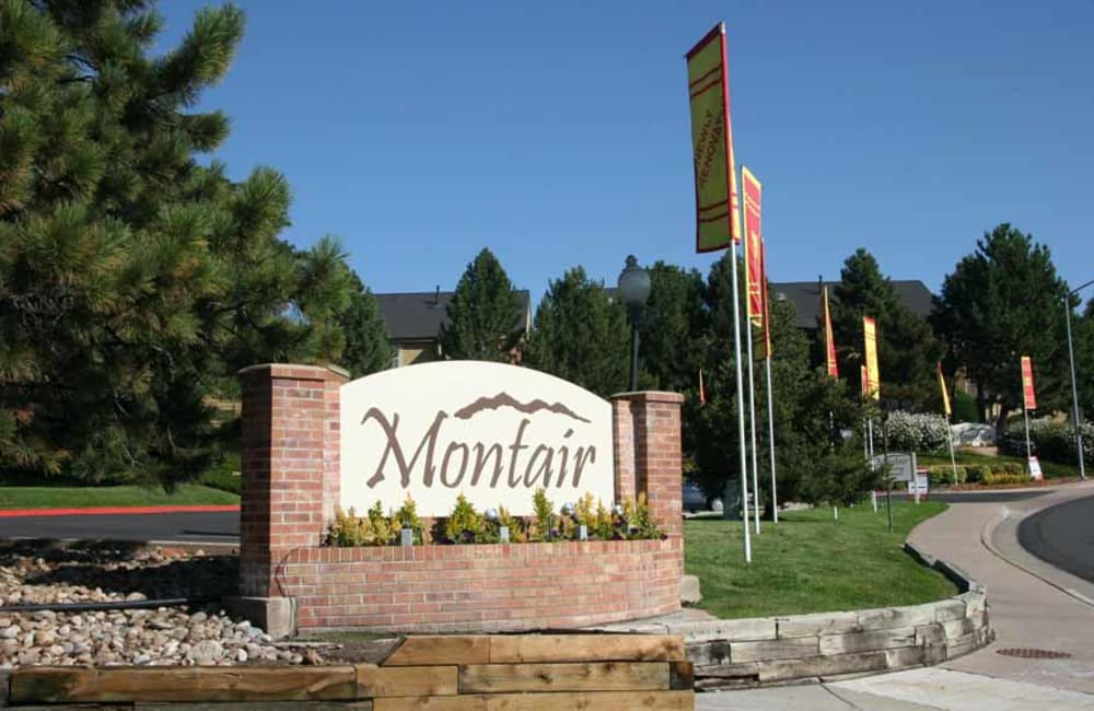 Montair Apartment Homes signage in Thornton, CO
