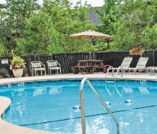 Sparkling swimming pool at Maplewood Estates Apartments in Hamburg, New York