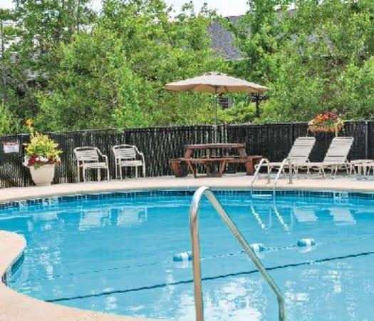 Sparkling swimming pool at Maplewood Estates Apartments in Hamburg, New York