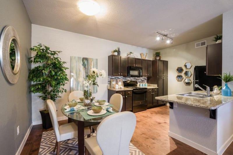 Cute dining nook next to the kitchen at Verandas at Alamo Ranch in San Antonio, Texas