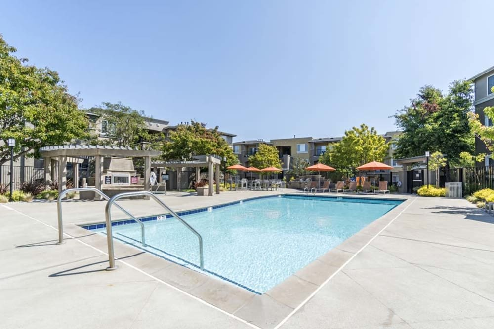 Pool at The Tides Apartments in Richmond, CA