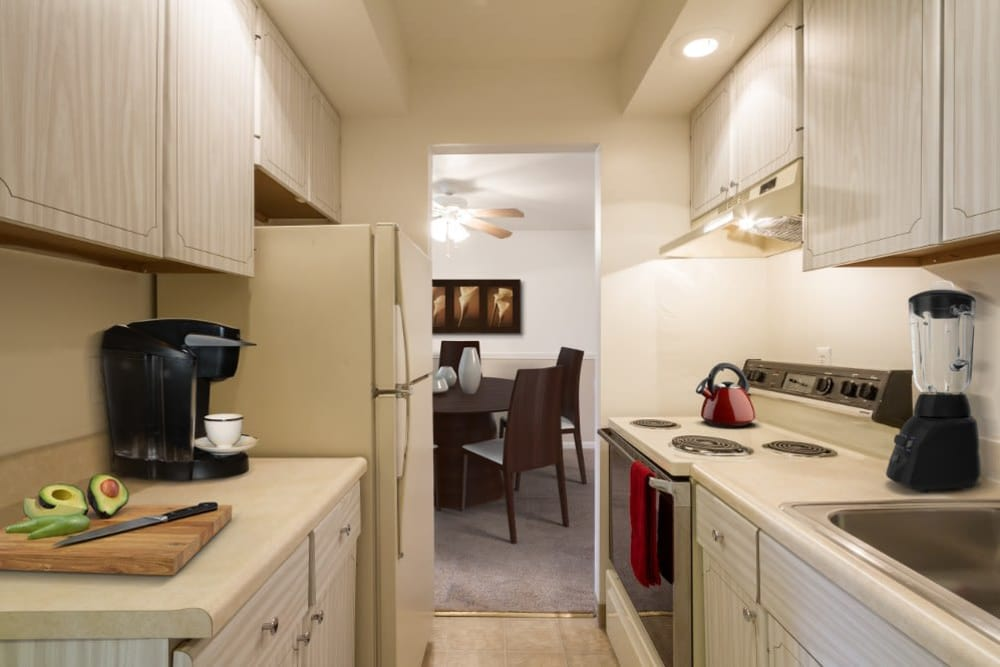Imperial North Apartments offers a beautiful kitchen at Imperial North Apartments home in Rochester, NY