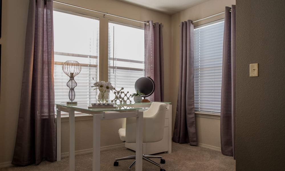 In-home office area at Watercress Apartments in Maize, Kansas