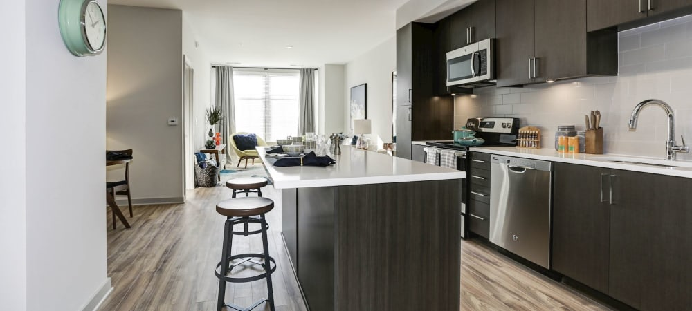 Nice kitchen in a model home at Metropolitan Rockville Town Center in Rockville, Maryland