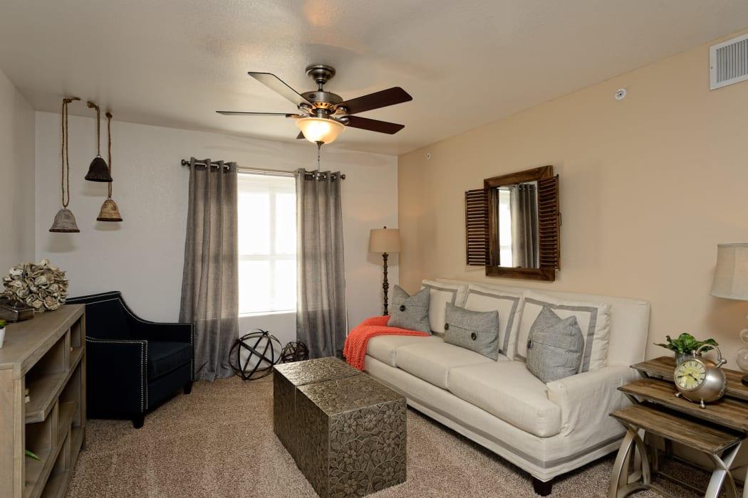 Living room at The Patriot Apartments in El Paso, Texas
