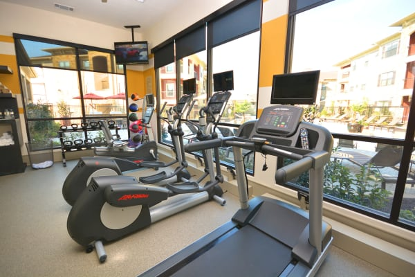 Fitness equipment at The Sovereign in Fort Worth, Texas