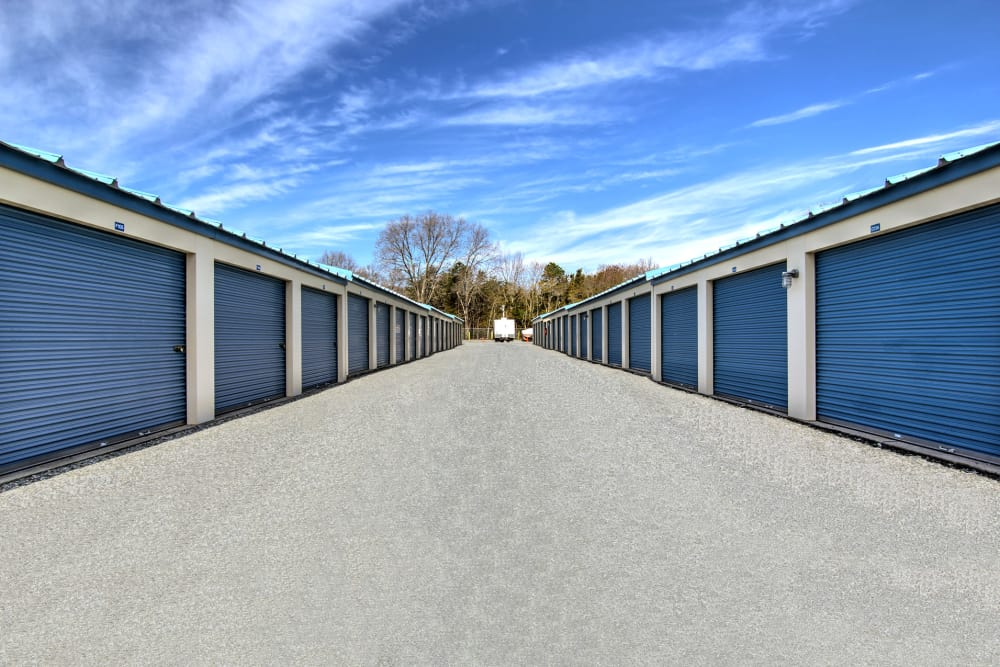 Wide drive ways  at A Safe Keeping Self Storage in Cape May Court House, New Jersey