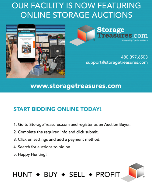 Online Auctions from Global Self Storage in Edmond, Oklahoma