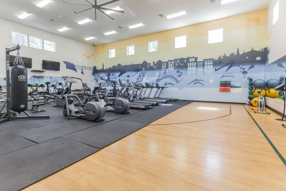 Fitness center at Vista Point Apartments in Wappingers Falls, New York