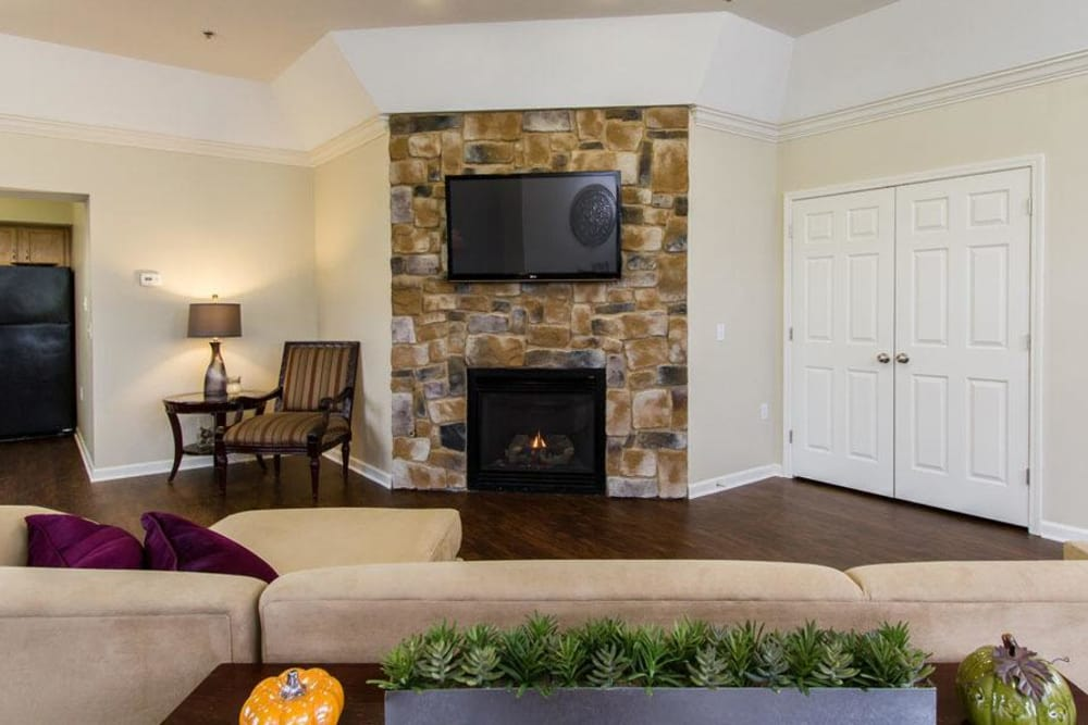 Villas of Victor and Regency Townhomes offers a luxury living room in Victor, NY
