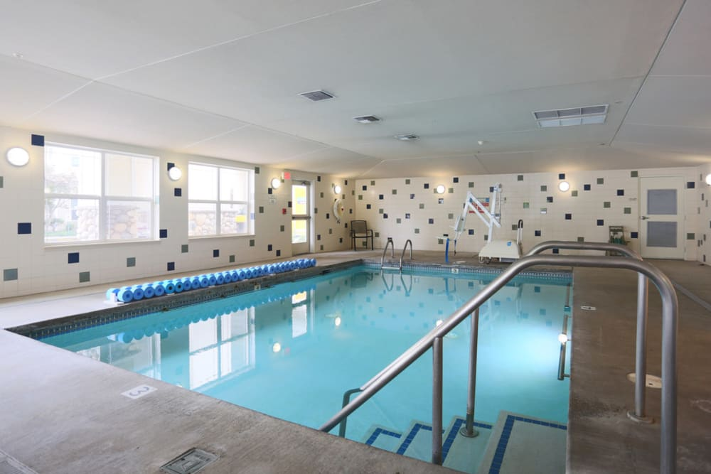 Spacious indoor pool and spa at The Lofts at Glenwood Place in Vancouver, Washington