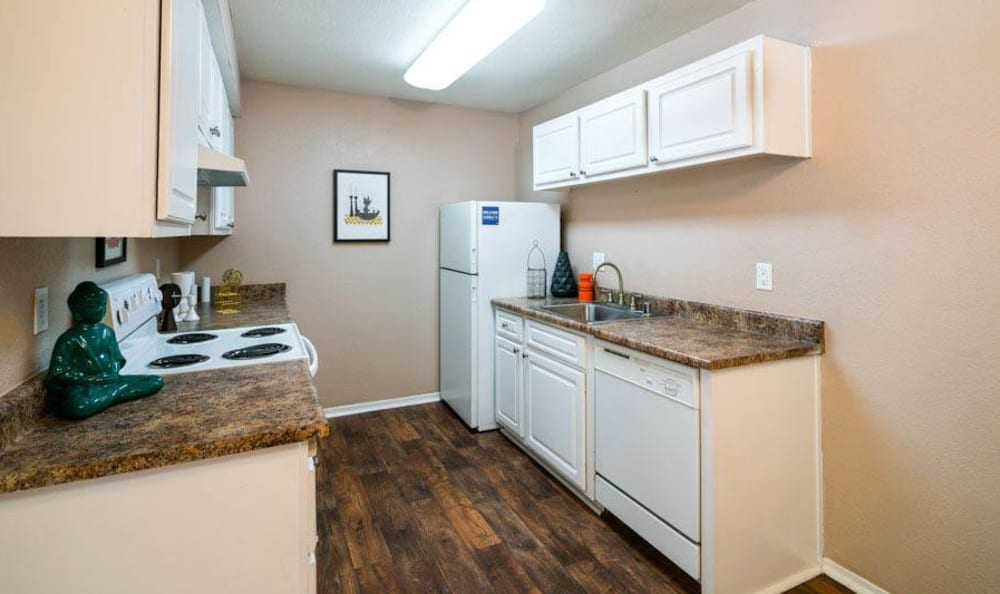 Updated Kitchen at The Woodlands Apartments