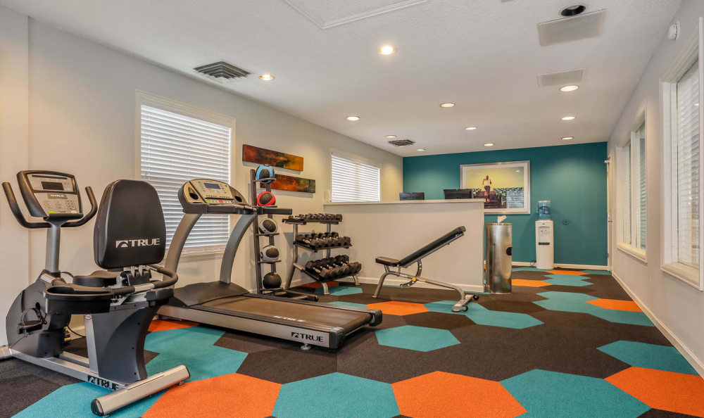State-of-the-art fitness center at City Center Station Apartments