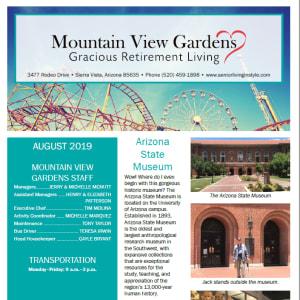 August Mountain View Gardens newsletter